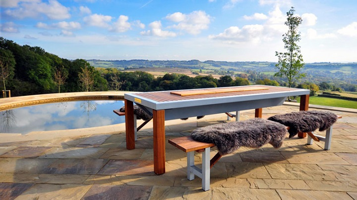 Modern Outdoor Barbecue Table foto1