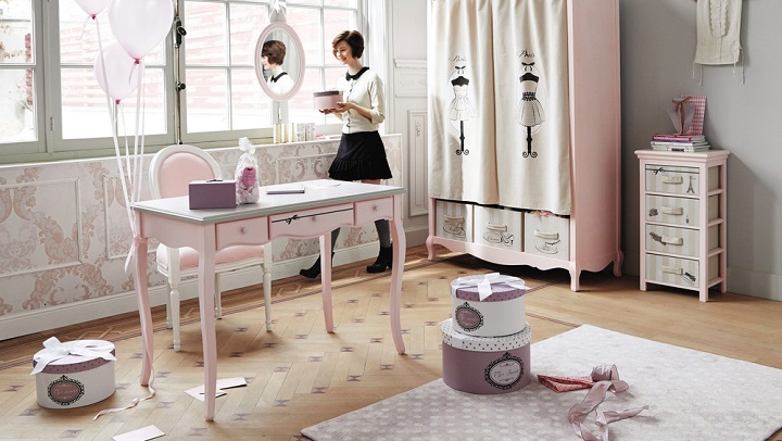 escritorios infantiles y juveniles de maisons du monde revista muebles mobiliario de dise o. Black Bedroom Furniture Sets. Home Design Ideas