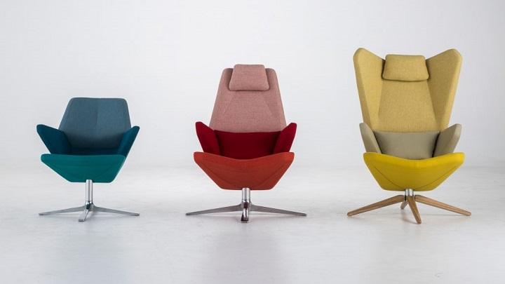 Sillones Coloridos.Revista Muebles Mobiliario De Diseno